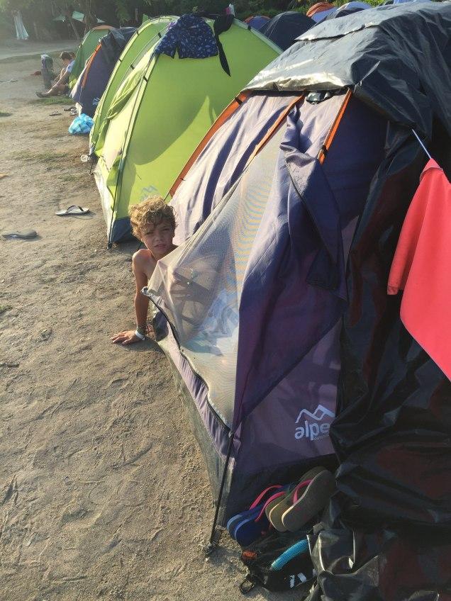 Sortie de tente à Cabo San Juan parc Tayrona