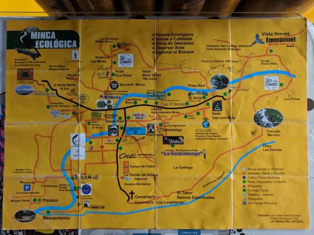 Carte de Minca et ses environs