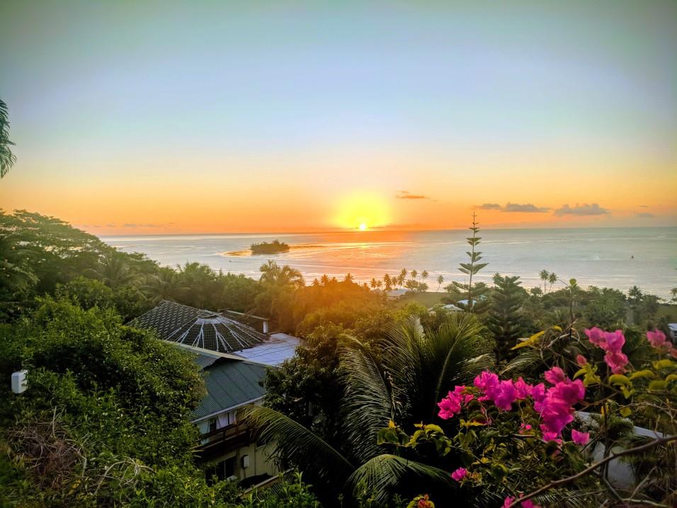 Coucher de soleil sur Raiatea
